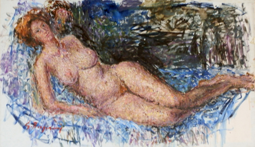 Art work by Guido Borgianni Nudo - oil canvas